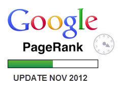 Google Page Rank Update – November 2012